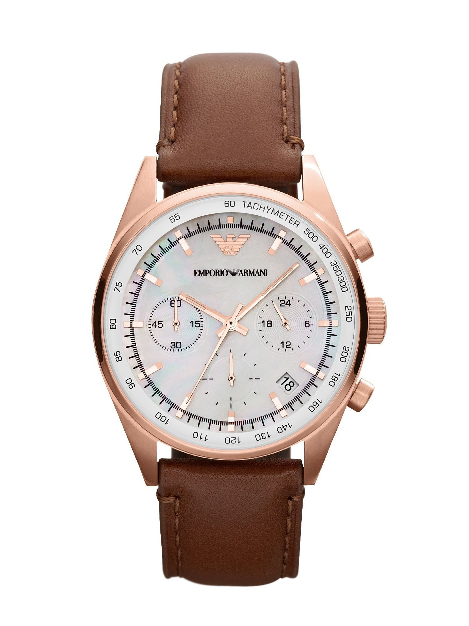 AR5996 Sport Brown Leather Ladies Watch