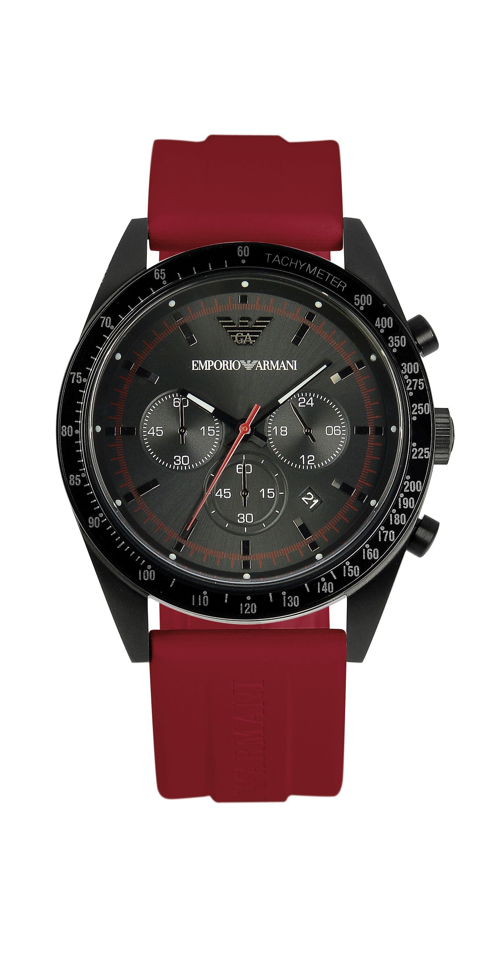 AR6114 Sport red rubber mens watch