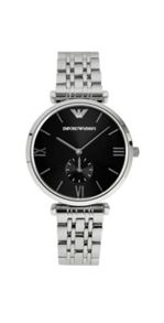 AR1676 Retro Silver Mens Bracelet Watch