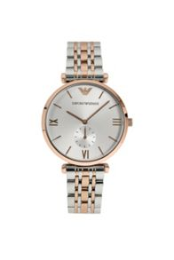 AR1677 Retro Silver and Rose Gold Mens Watch