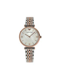 AR1683 Retro Silver and Rose Gold Ladies Watch