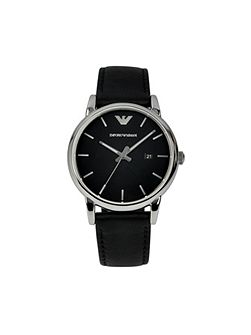 AR1692 Classic Black Leather Mens Watch