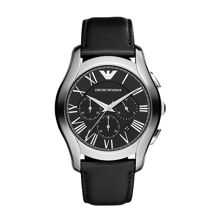 Emporio Armani AR1700 Classic Black Leather Mens Watch