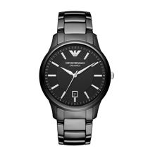 AR1475 Ceramic Black Mens Bracelet Watch