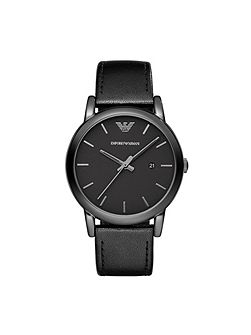 AR1732 Classic Black Leather Mens Watch