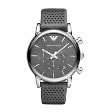 AR1735 Classic Grey Leather Mens Watch