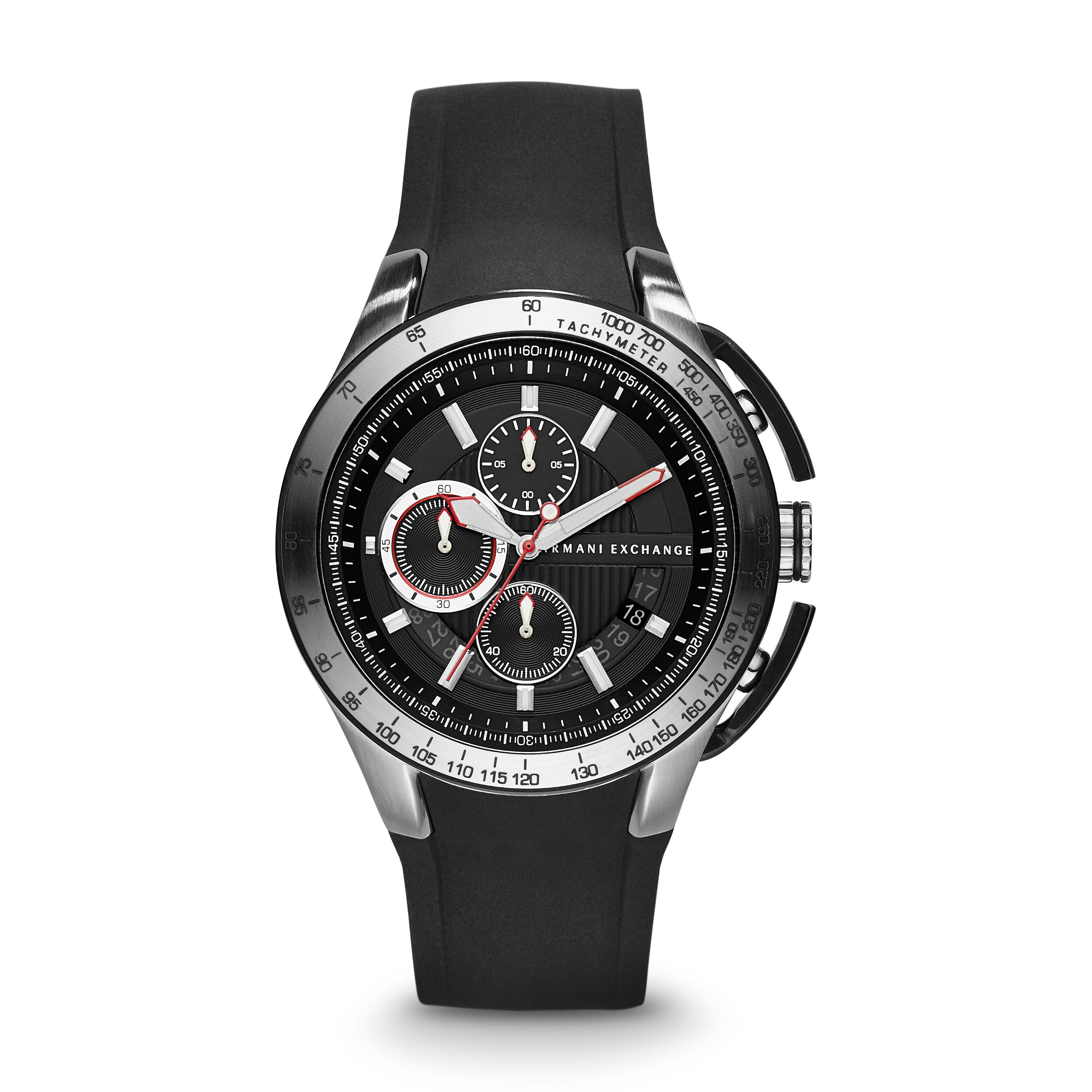 AX1400 ACTIVE black silicone mens watch