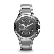 AX1403 ACTIVE silver stainless steel mens watch