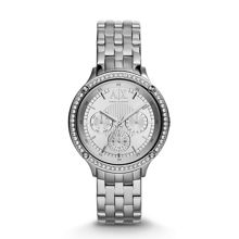 AX5401 ACTIVE silver stainless steel ladies watch