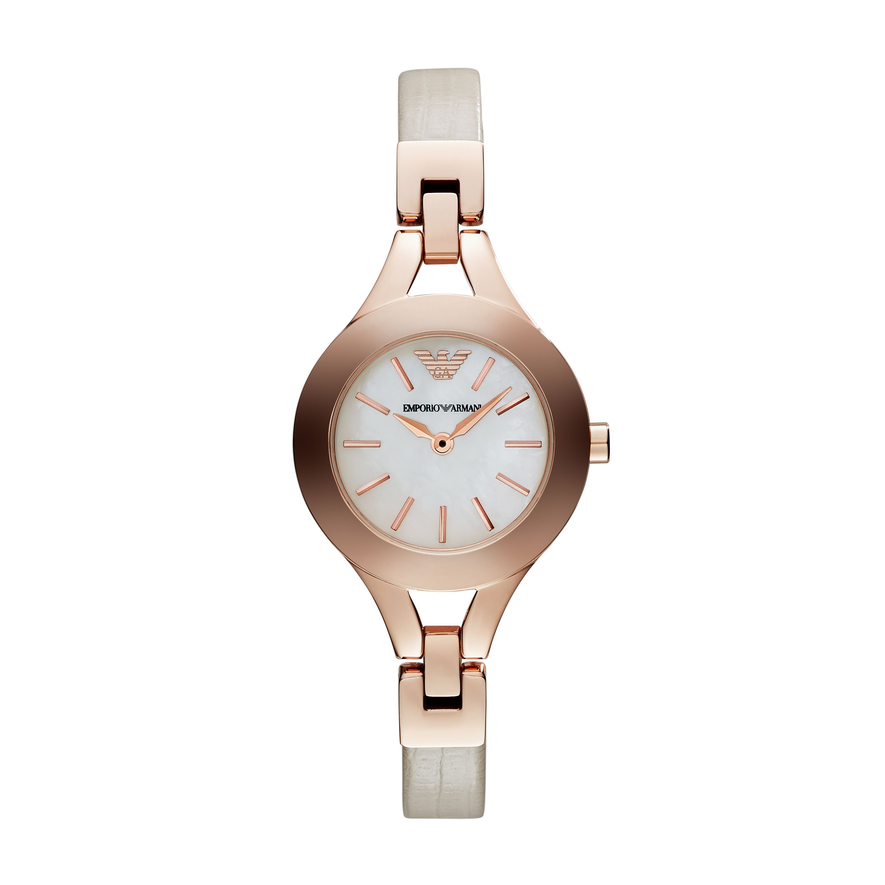 AR7354 Classic Cream Leather Ladies Watch