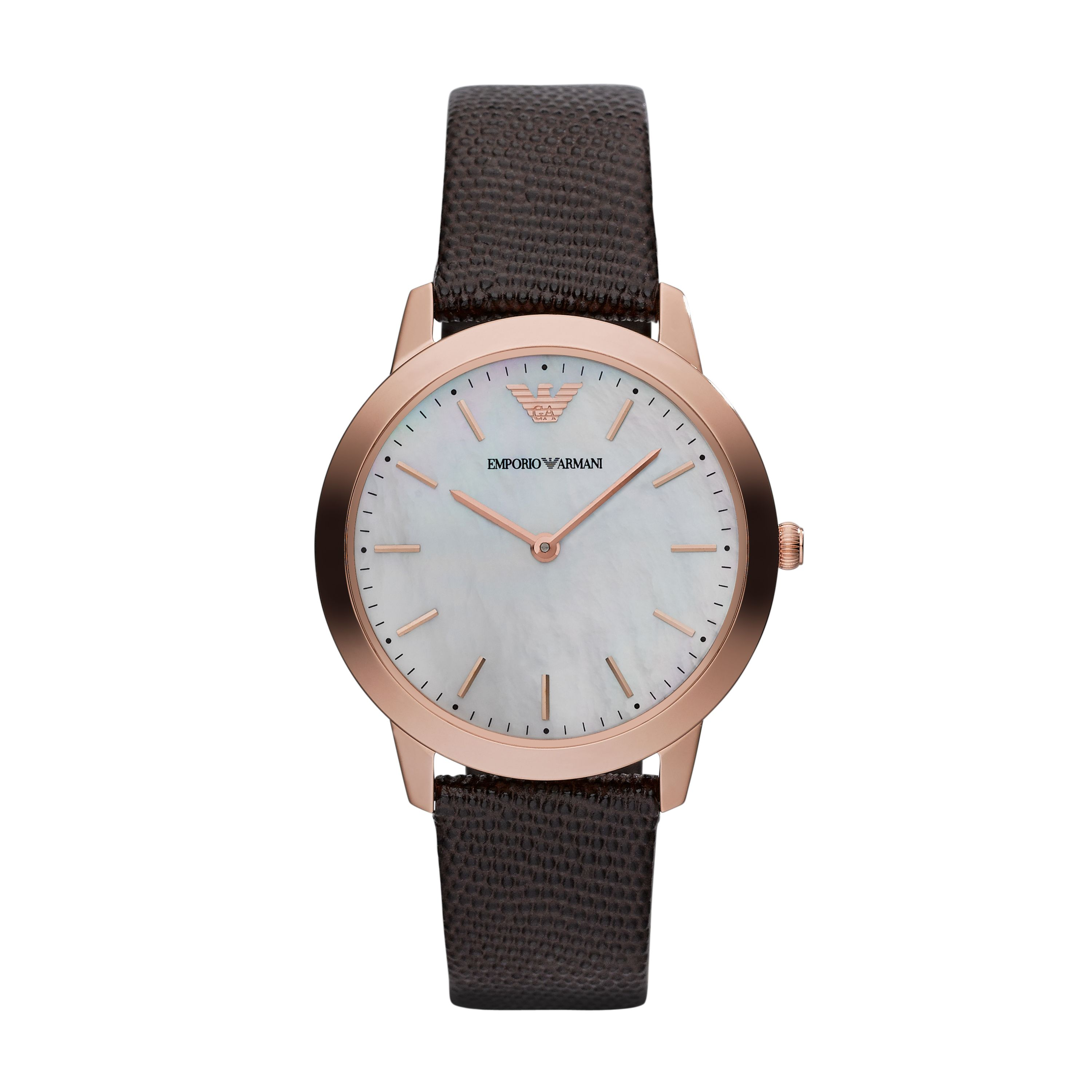 AR1748 RETRO brown micro lizard ladies watch