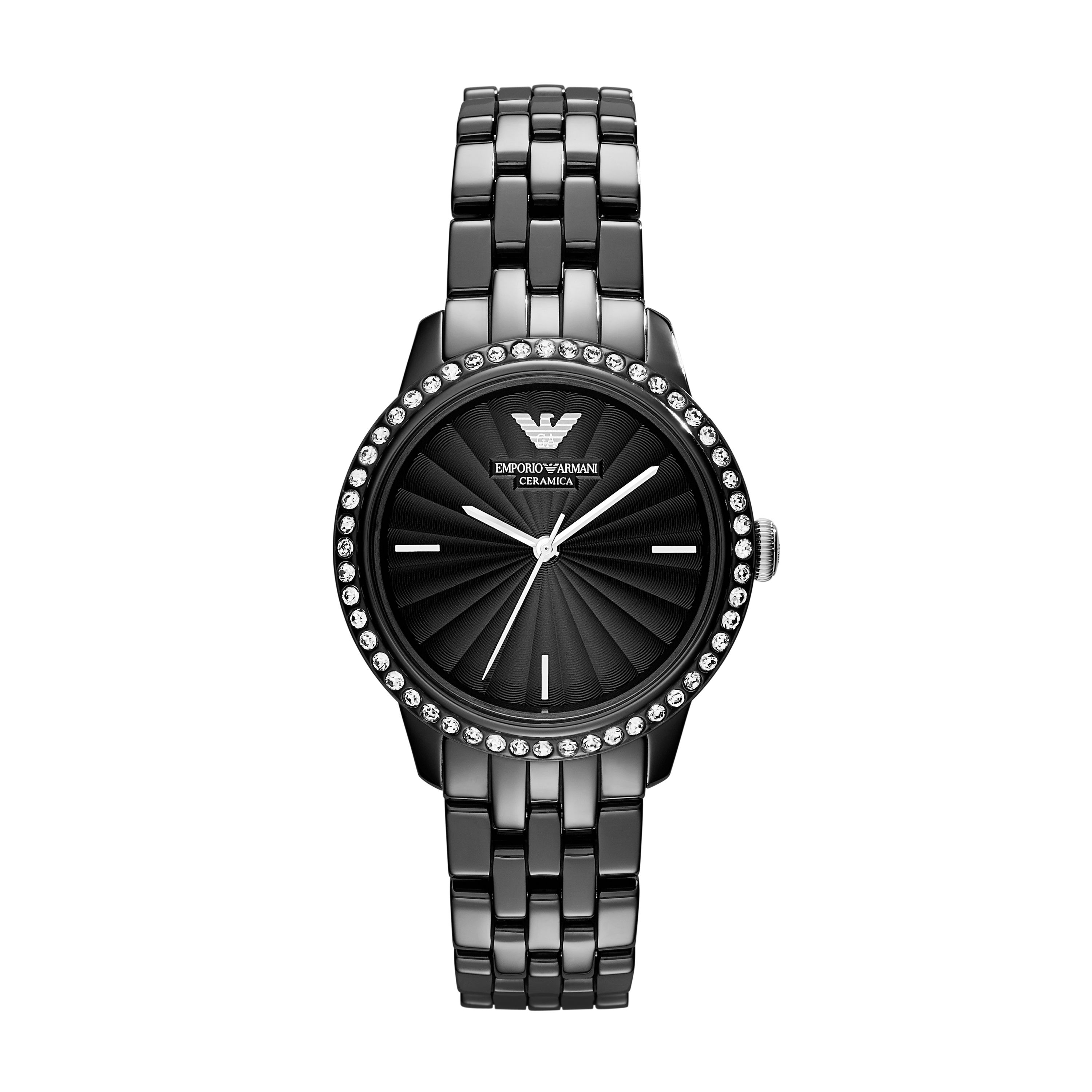 AR1478 Retro black ladies ceramic watch