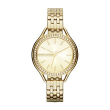 AX4255 DRESS gold stainless steel ladies watch