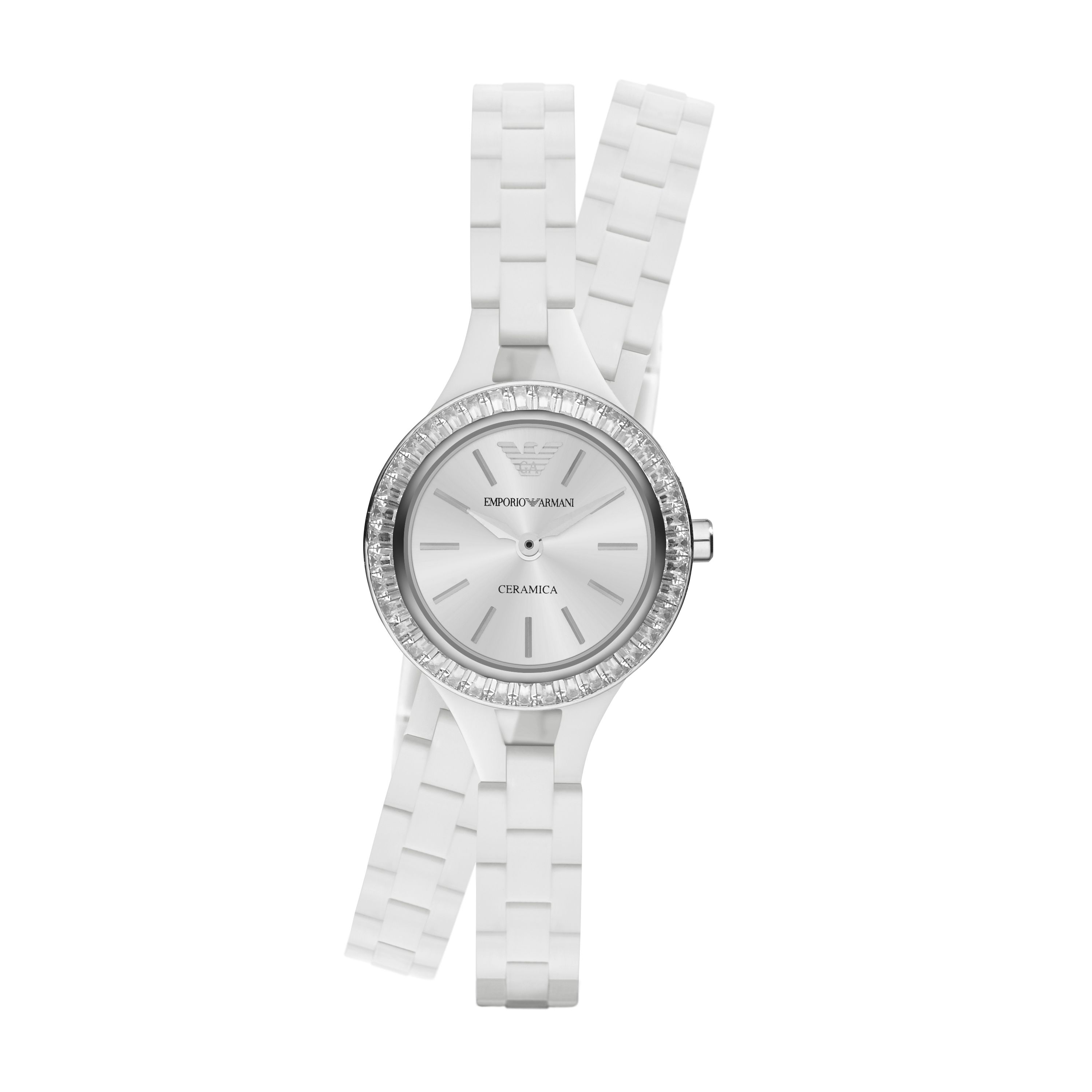 AR1482 Classic white ladies ceramic bracelet watc