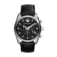AR6039 Sportivo Black Leather Mens Sport Watch