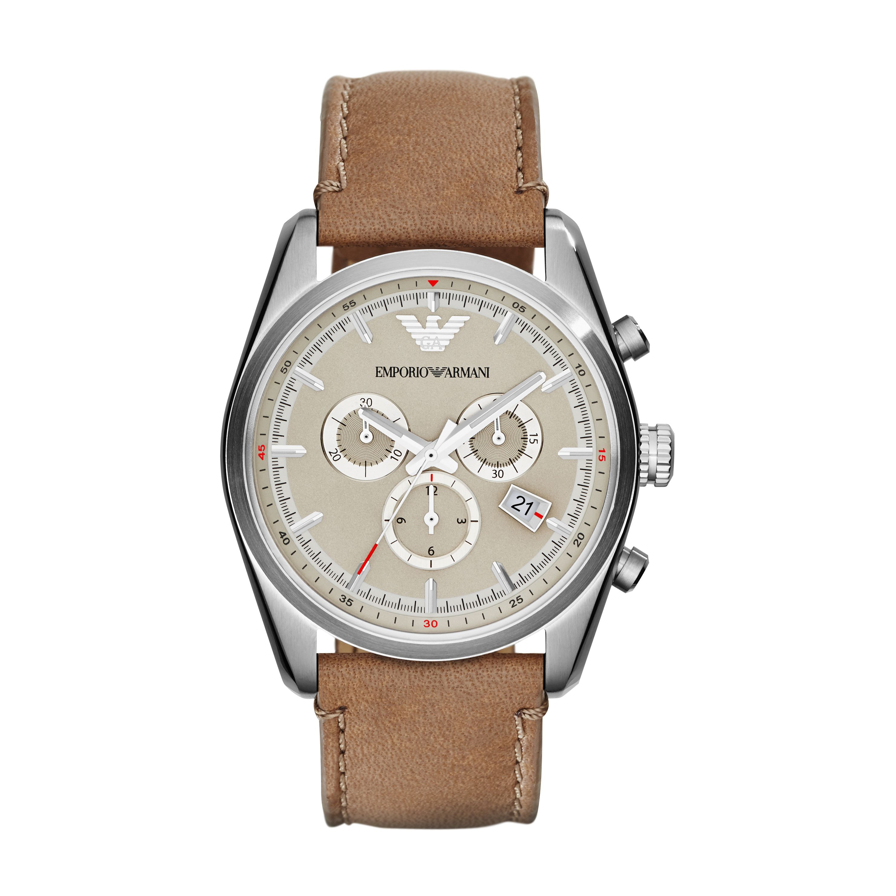 AR6040 Sportivo Tan Leather Mens Watch