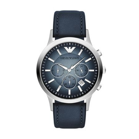 Emporio Armani AR2473 Classic Blue Leather Mens Watch