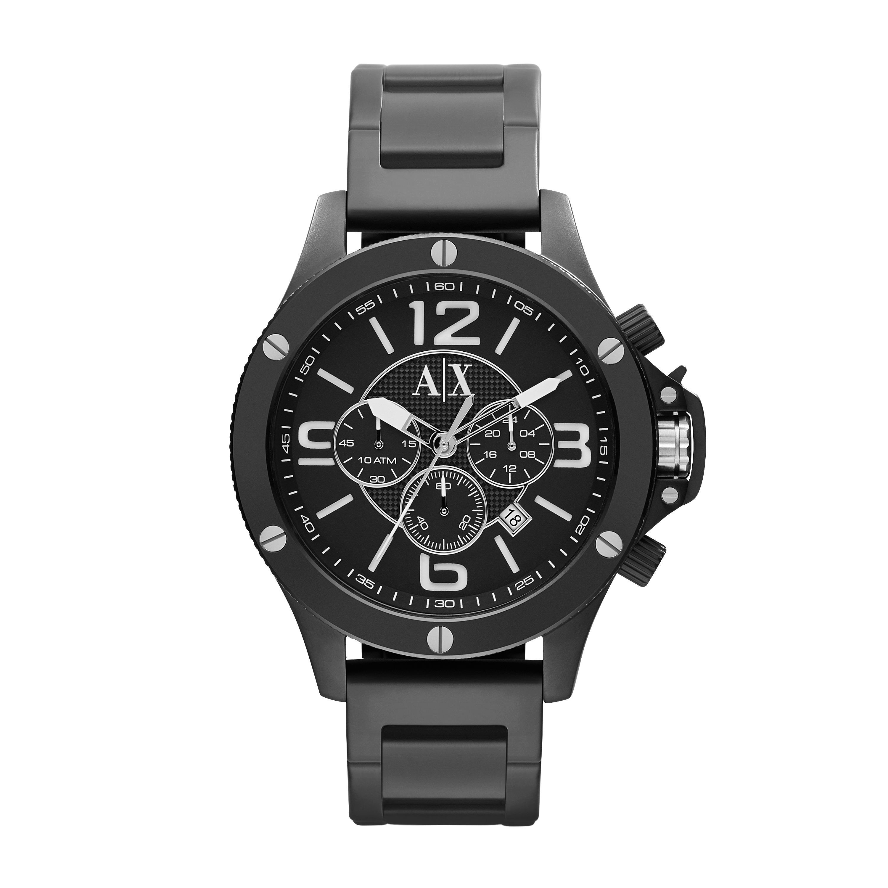 AX1503 STREET black stainless steel mens watch