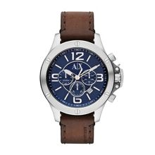 AX1505 STREET brown leather mens watch