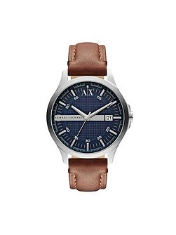 AX2133 STREET brown leather mens watch