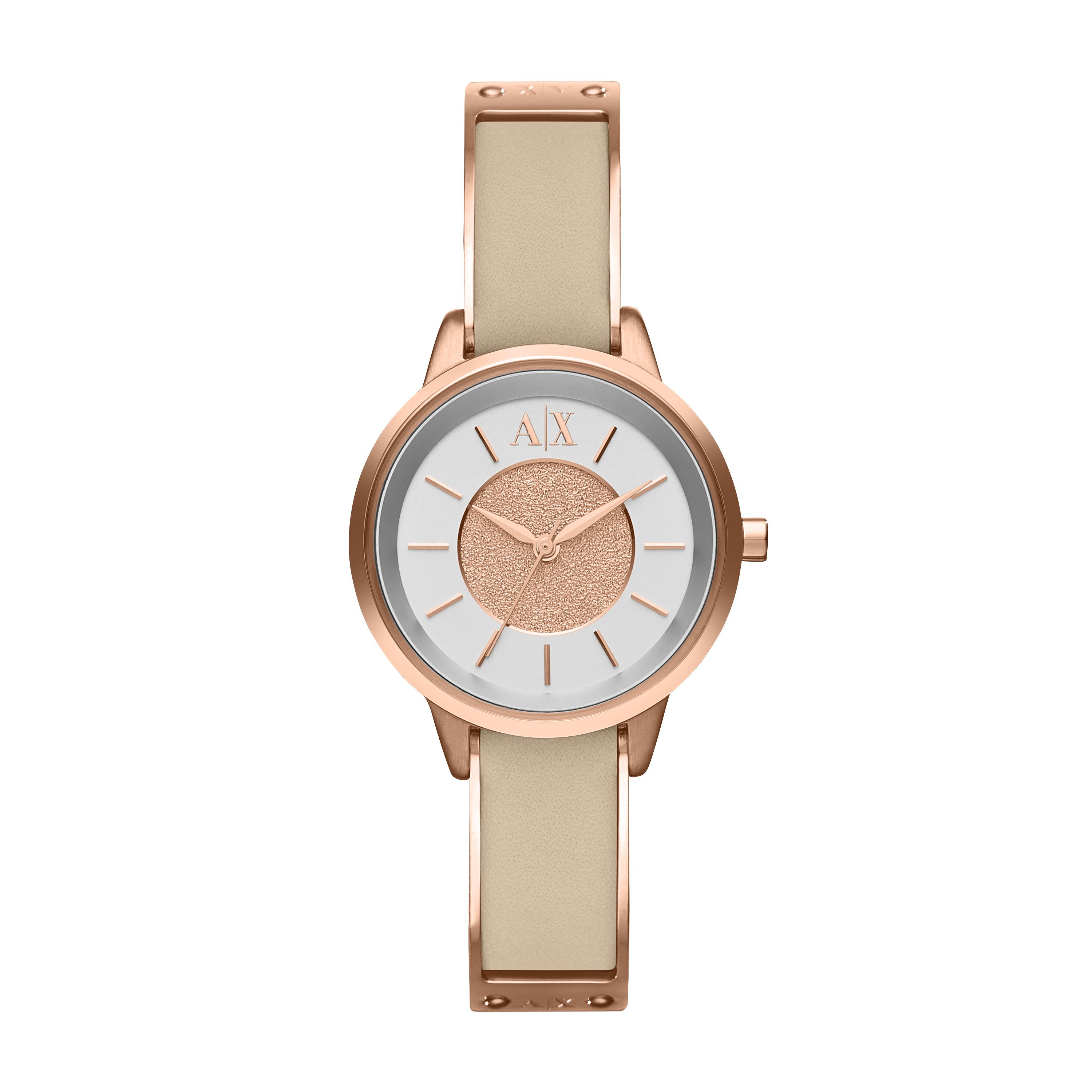 AX5353 SMART rose gold leather ladies watch
