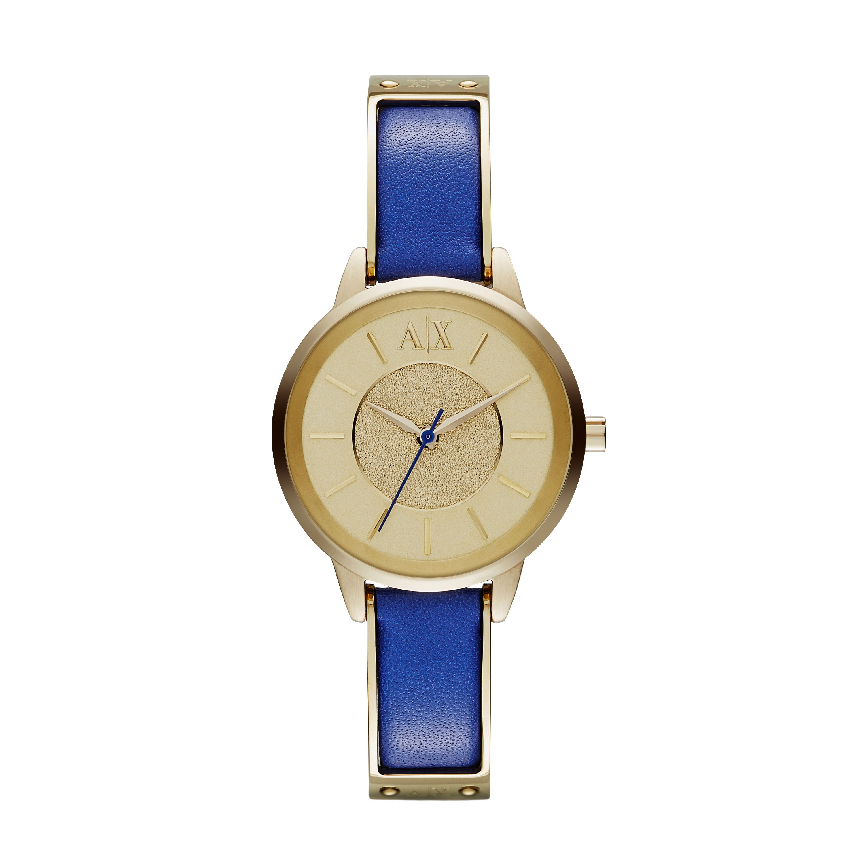 AX5355 SMART blue leather ladies watch