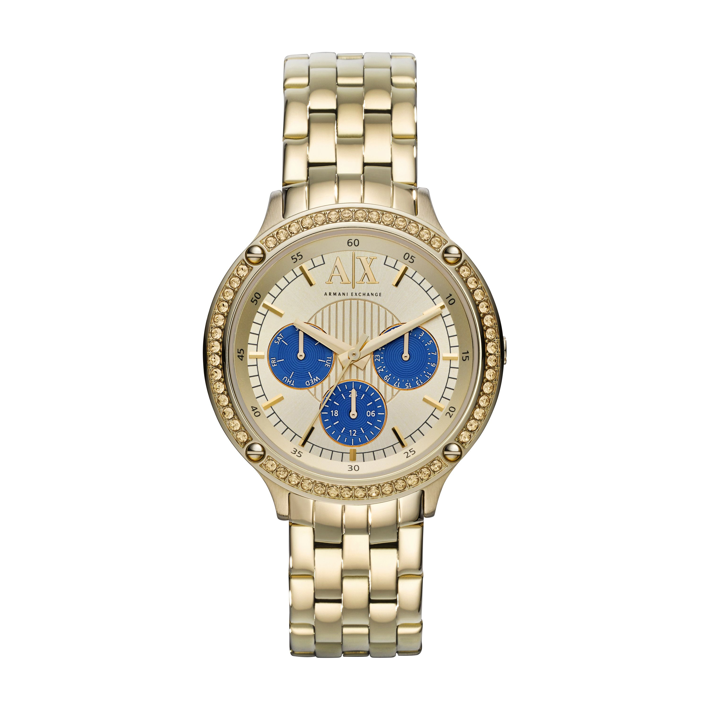 AX5409 ACTIVE gold stainless steel ladies watch