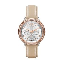 AX5413 ACTIVE nude Leather ladies watch