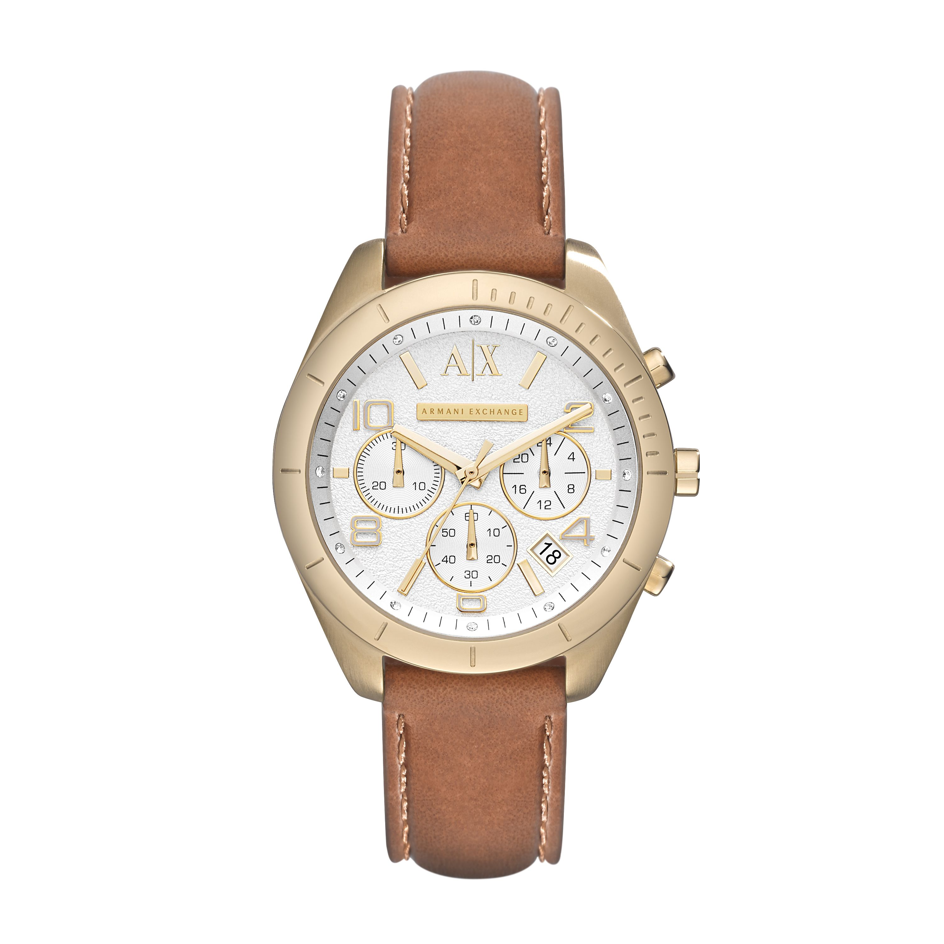 AX5505 ACTIVE brown leather ladies watch