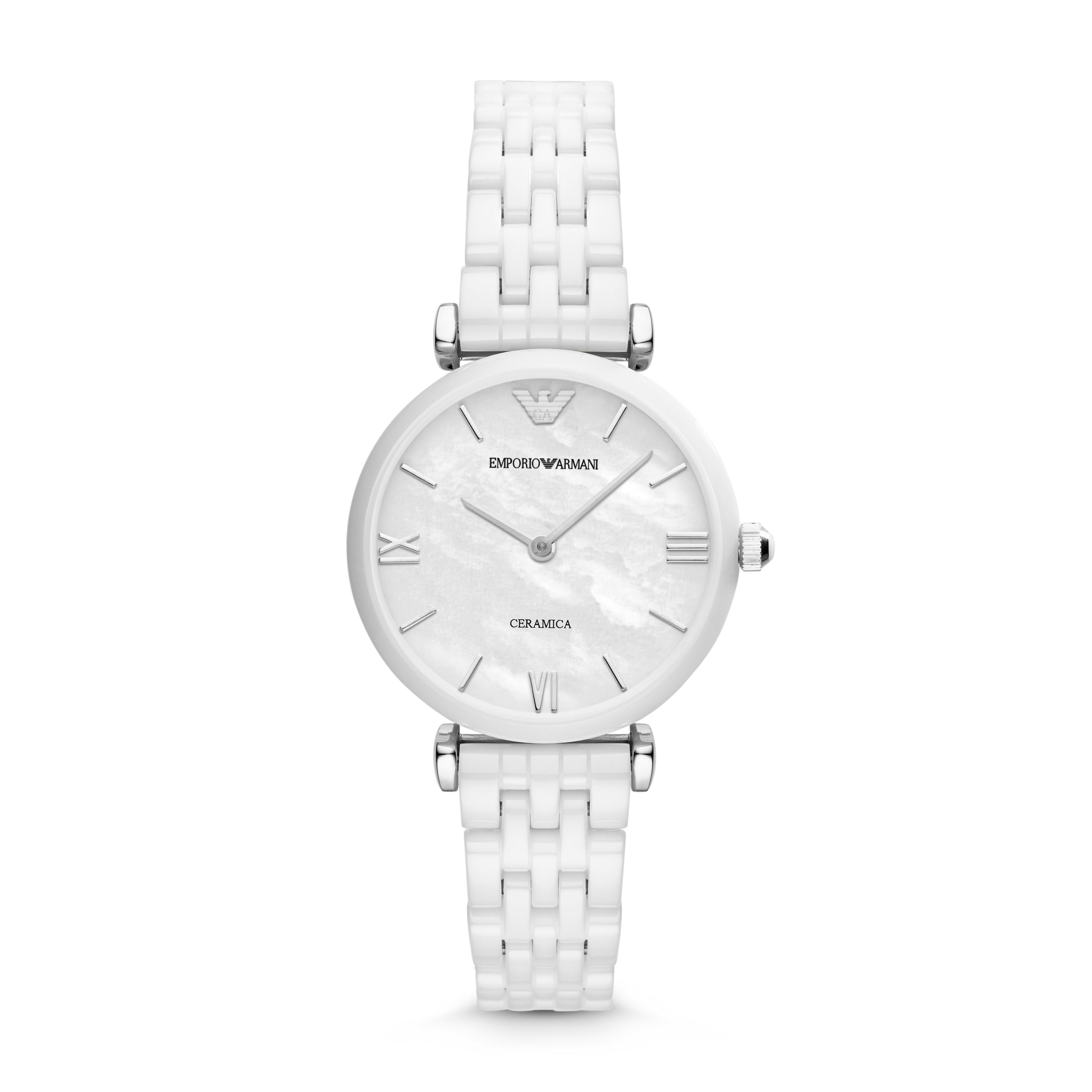 AR1485 Ceramic White Ladies  Bracelet Watch