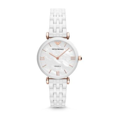 AR1486 Retro Ladies White Ceramic Bracelet Watch
