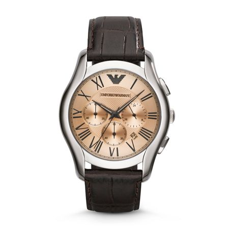 Emporio Armani AR1785 Classic Brown Leather Mens Watch