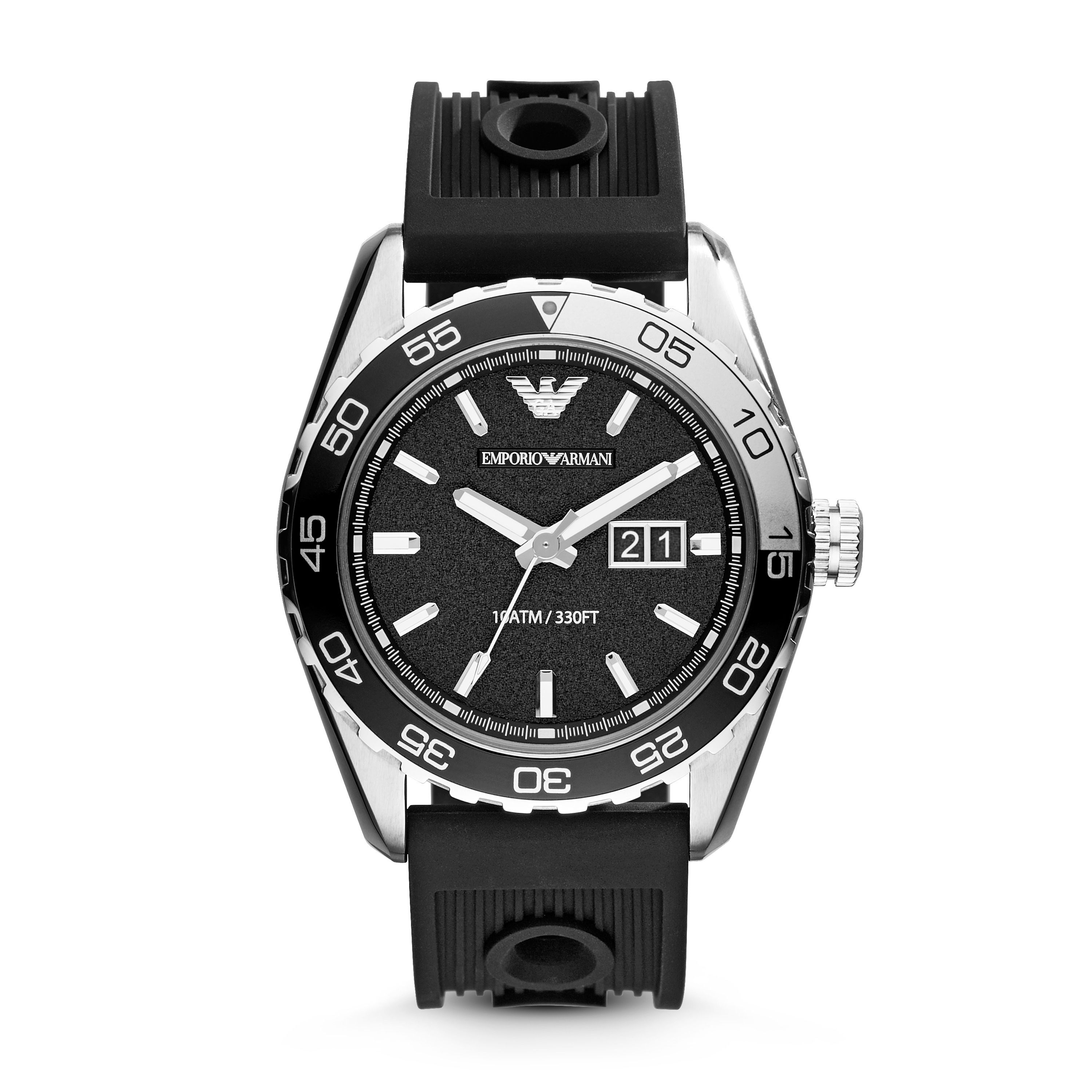 AR6044 Sport Black Silicone Mens Watch