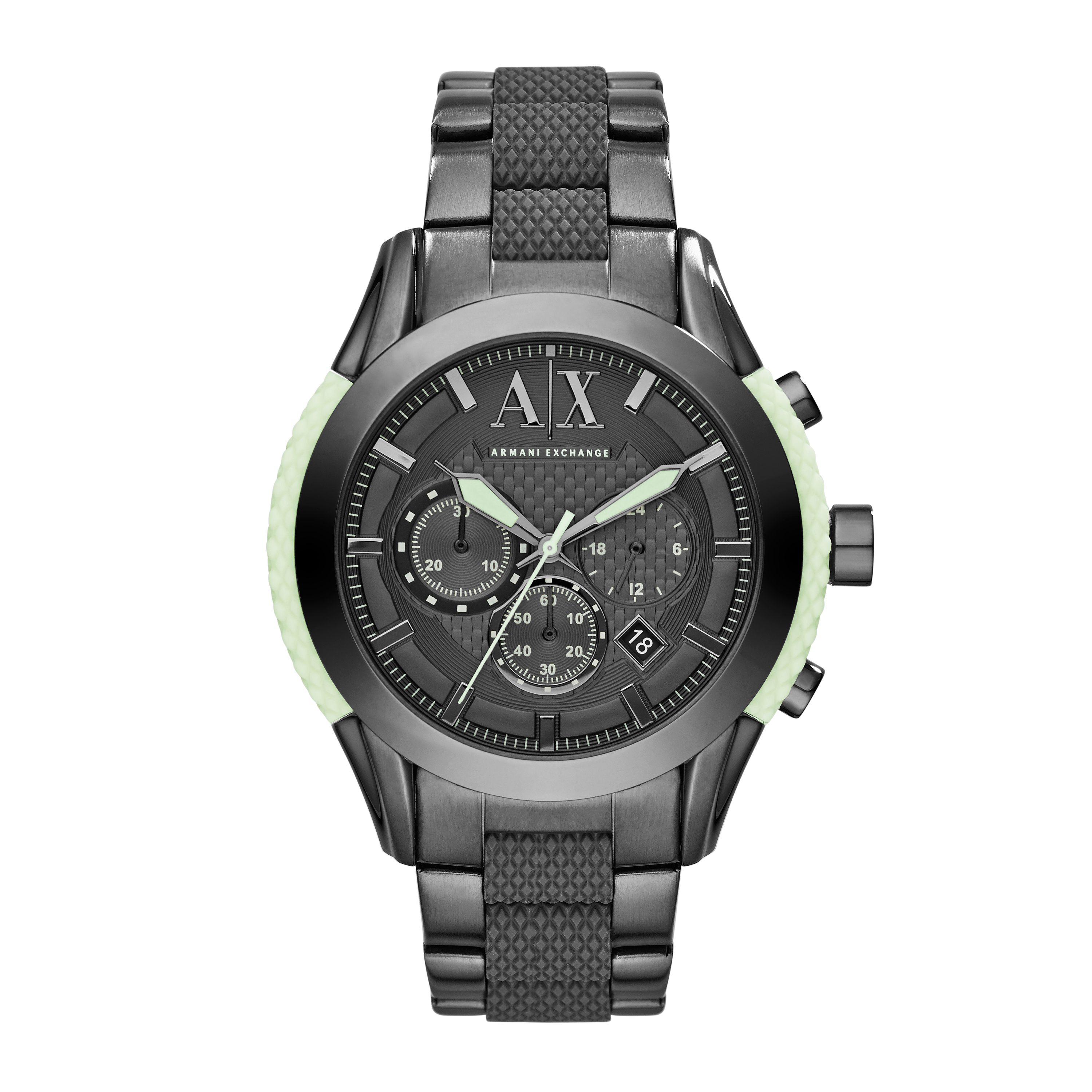 AX1385 Mens active gunmetal bracelet sport watch