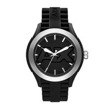 AX1384 Mens active black silicone strap watch