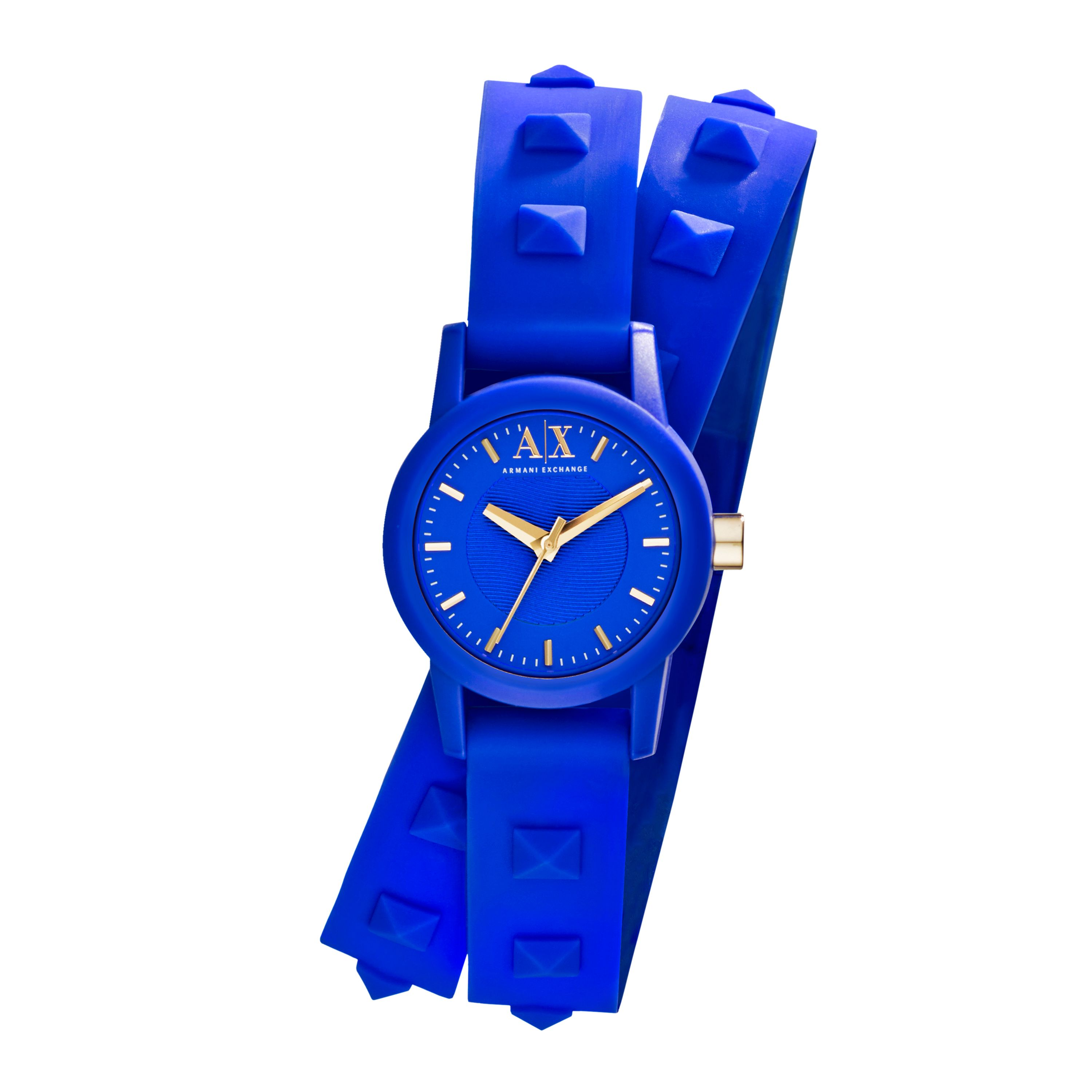AX6024 Street Ladies Silicone Blue Strap Watch