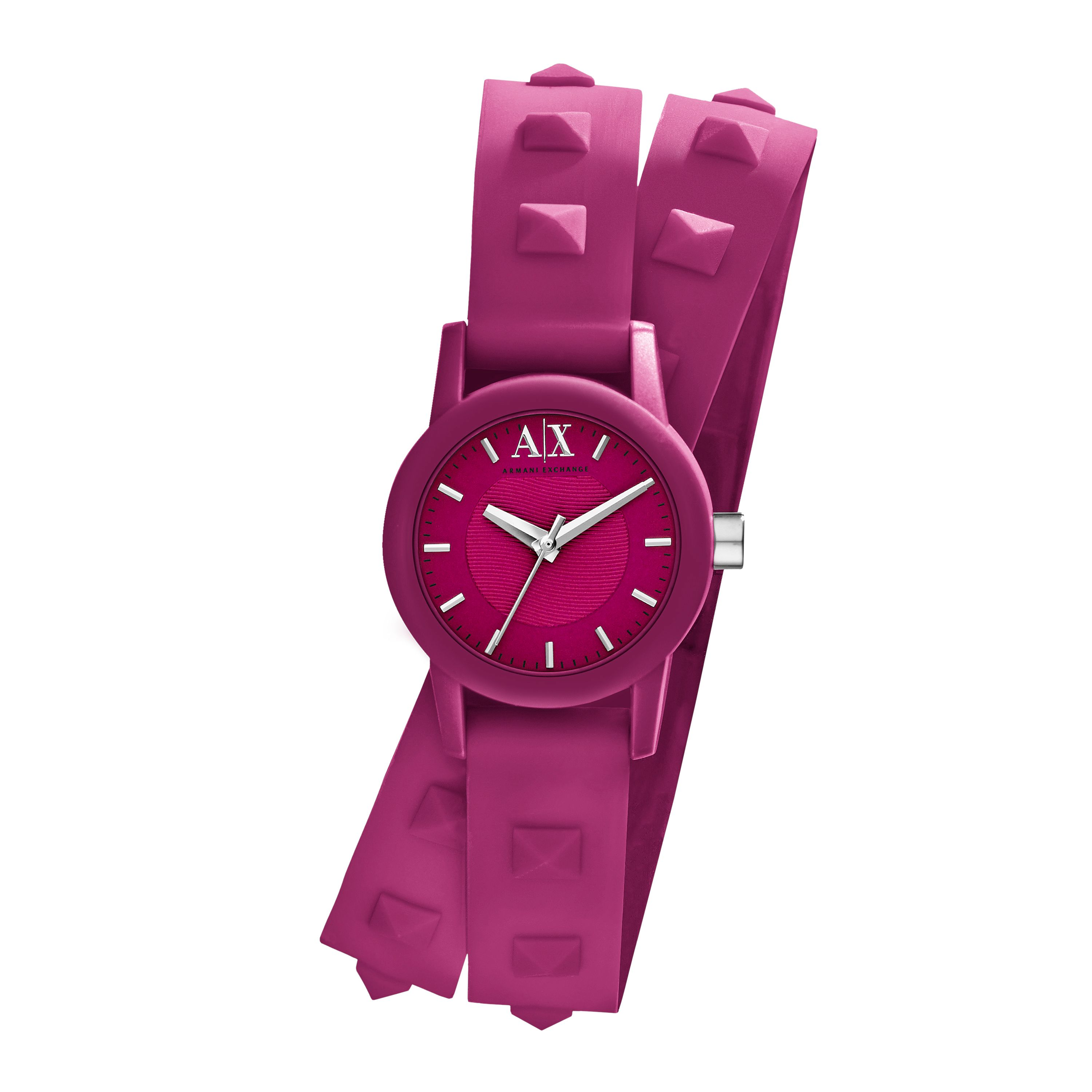 AX6025 Street Ladies Silicone Pink Strap Watch