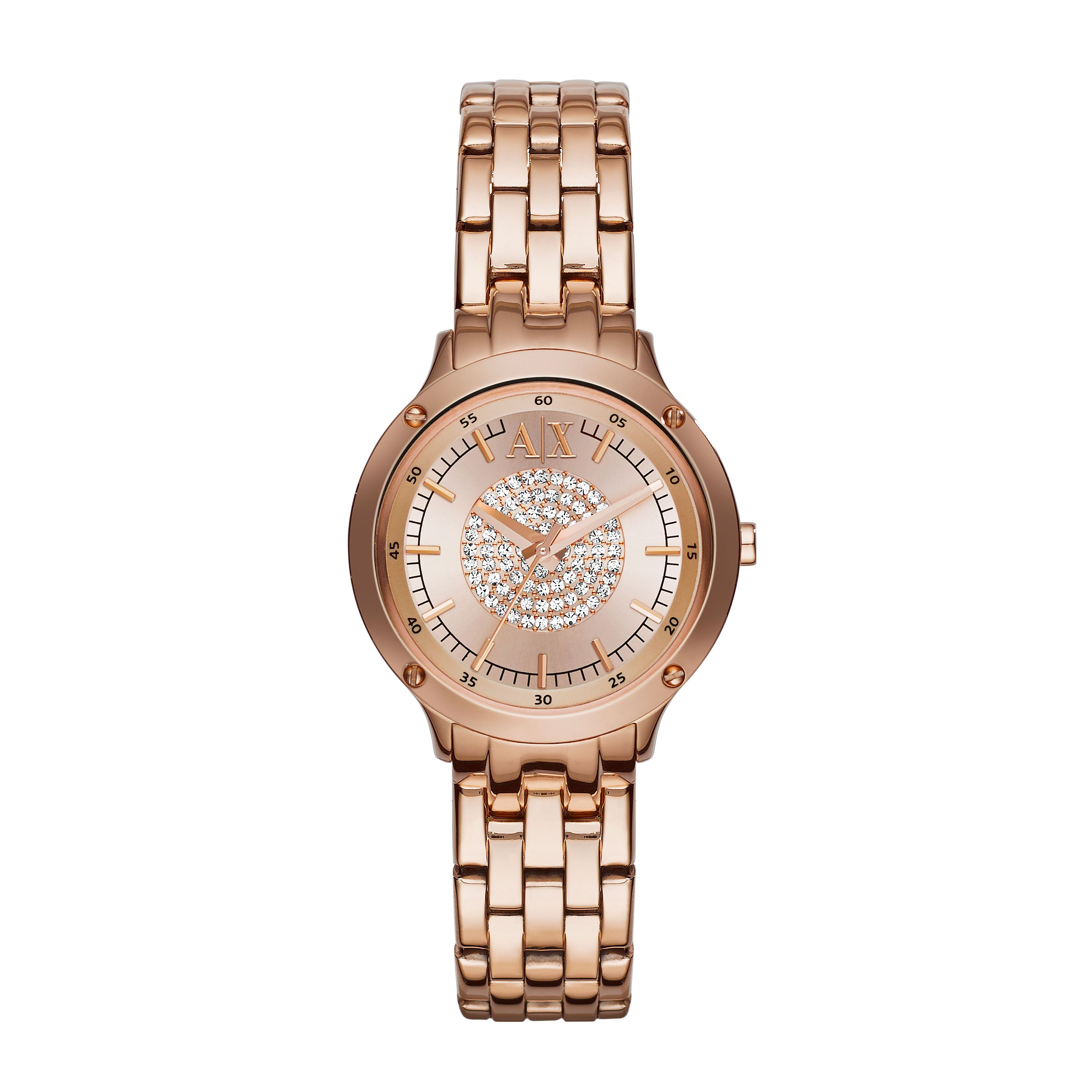 AX5416 Ladies active rose gold bracelet watch
