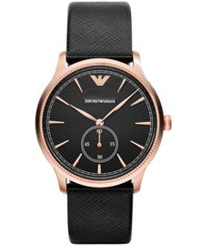 Emporio Armani AR1798 Unisex Black Buckle Watch