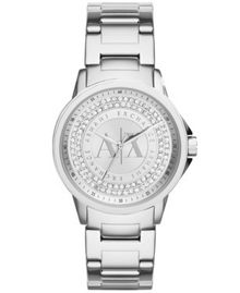 Armani Exchange AX4320 Womens Silver Bracelet Watch