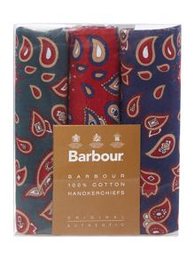 Barbour Paisley handkerchief boxed gift set