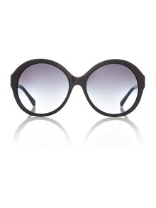 HC8149 female black round sunglasses