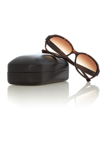Coach HC8150 female brown square sunglasses