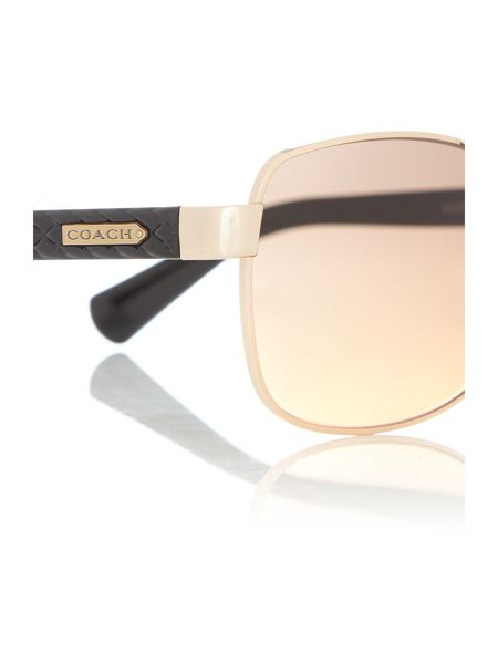 Coach HC7054 female gold aviator sunglasses