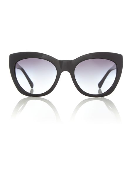 Coach HC8151 female black cat eye sunglasses