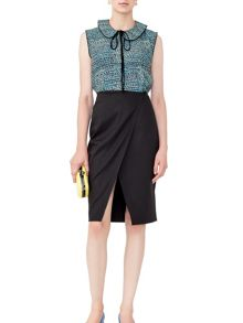 MAIOCCI Collection Tailored Cut-Out Skirt