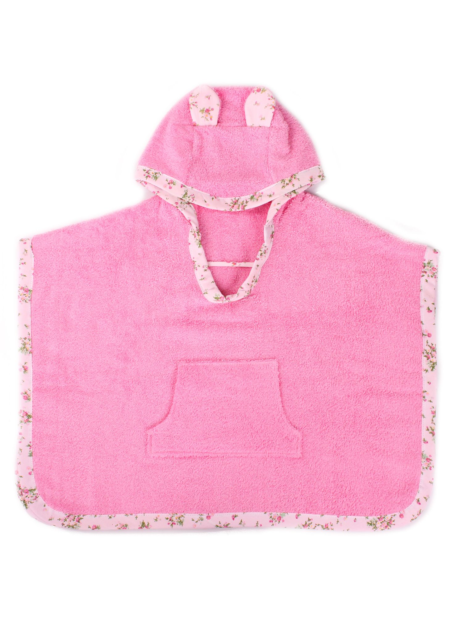 Girl`s hooded poncho bath towel