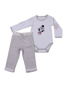 Boys rocket bodysuit and trouser set