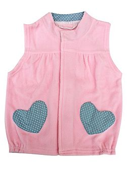 Girls Lightweight Pink Gilet