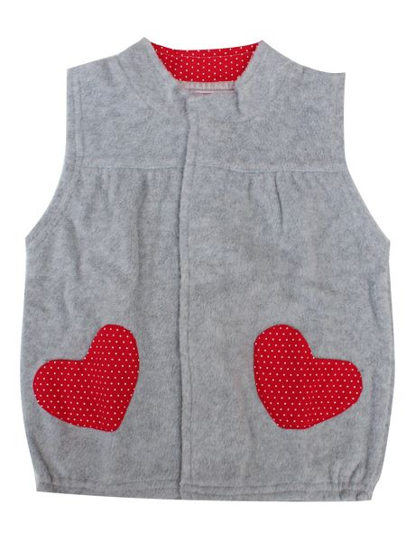 Minene Girls Lightweight Grey Gilet